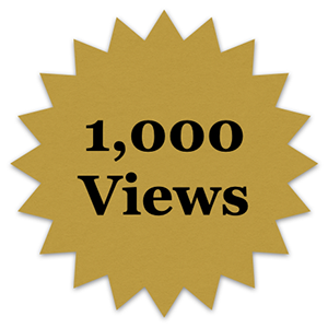 1000 views badge