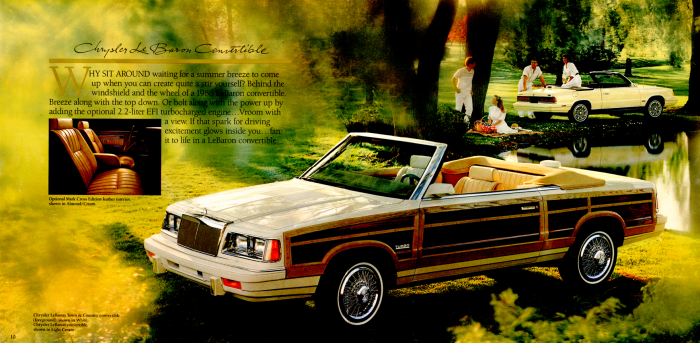 1986 Chrysler Town & Country convertible brochure picture