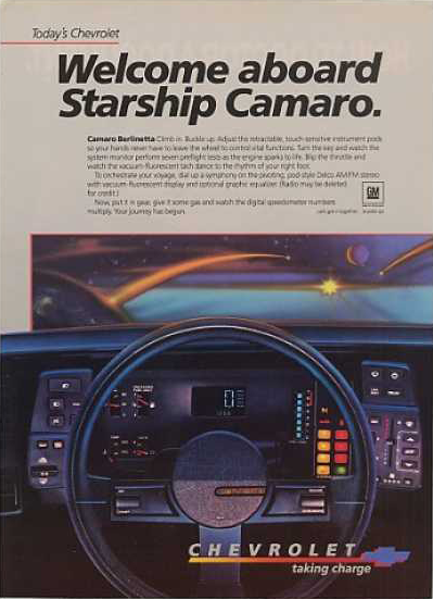 Camaro Berlinetta print advertisement.