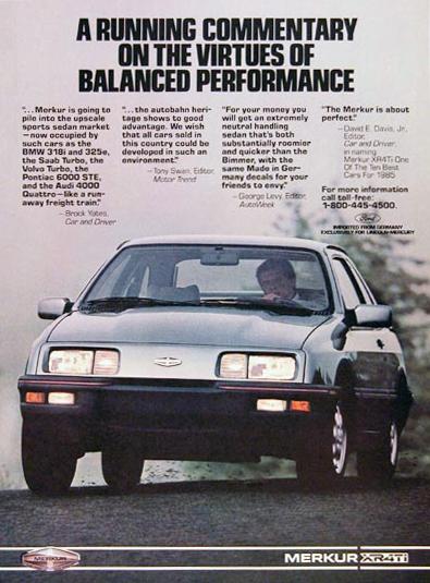 1985 Merkur print advertisement.