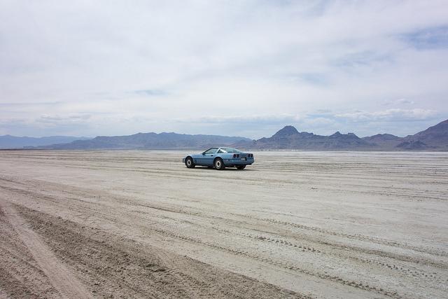 Lauren on the Bonneville Salt Flats.