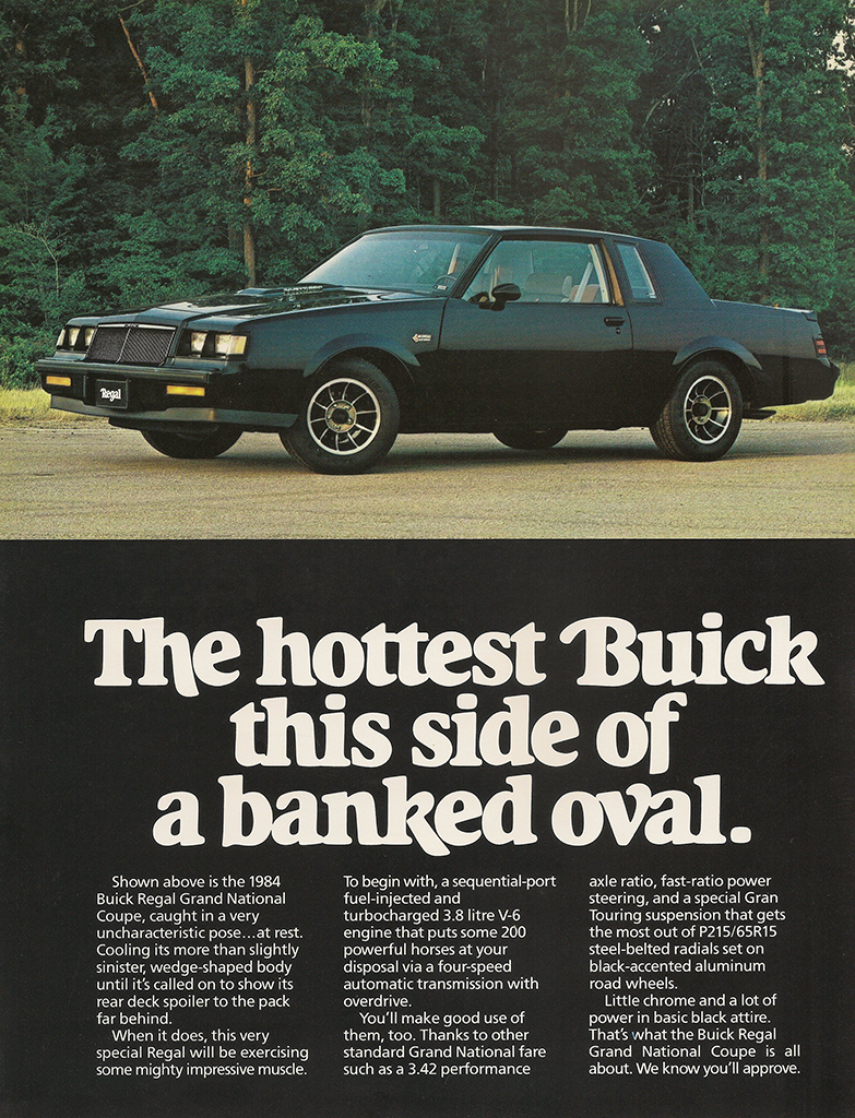 1984 Buick Grand National advertisement