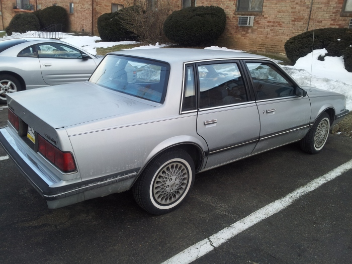My colleague's 1989 Celebrity, prior to restoration.