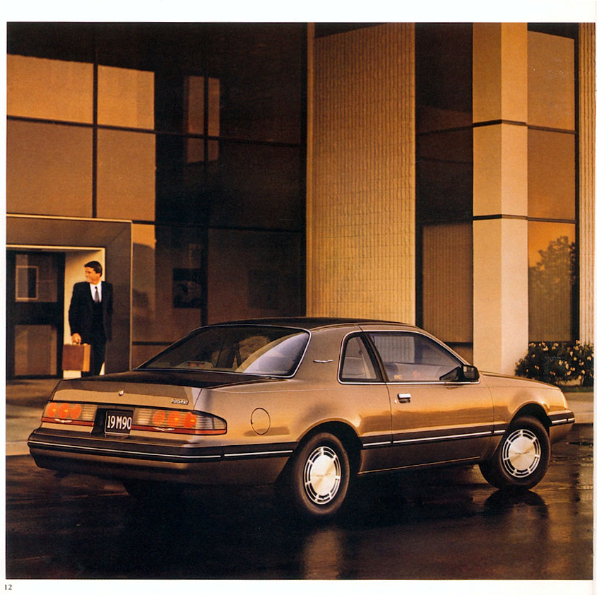 1987 Ford Thunderbird brochure page