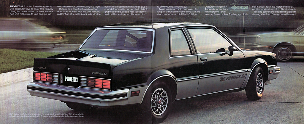 1982 SJ pages from the Pontiac Phoenix brochure