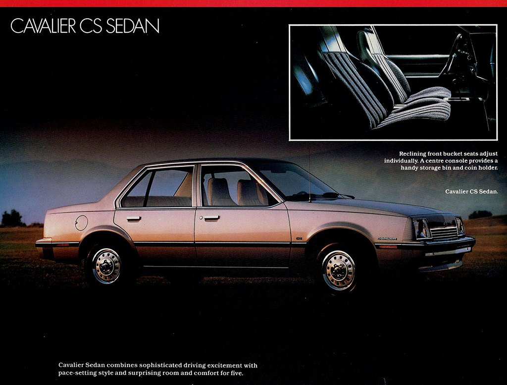 Page from 1983 Chevrolet Cavalier brochure