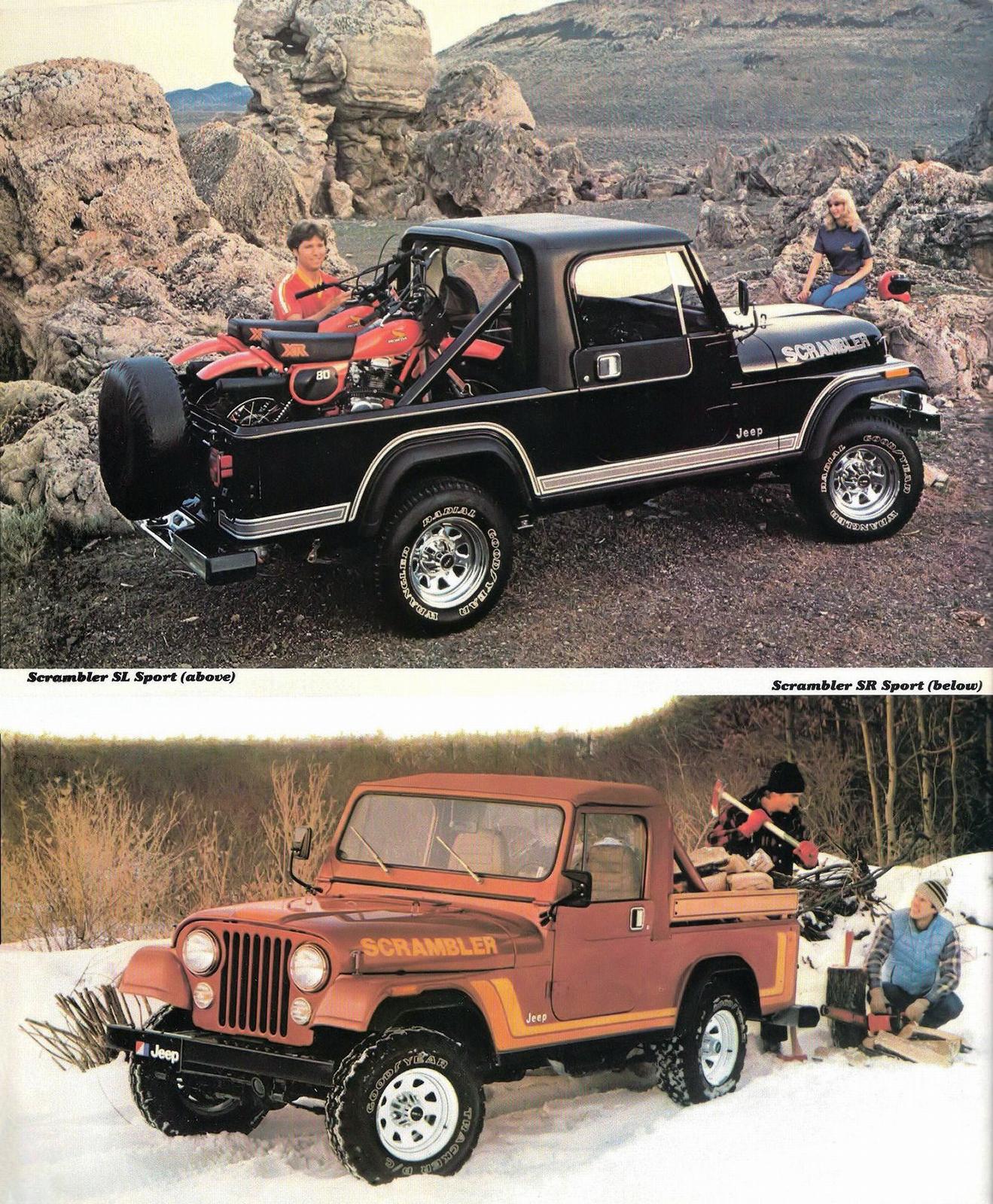 1982 Jeep Cj 8 Scrambler Pickup Truck Eighties Cars