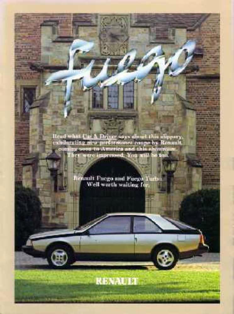 1982 Renault Fuego advertisement