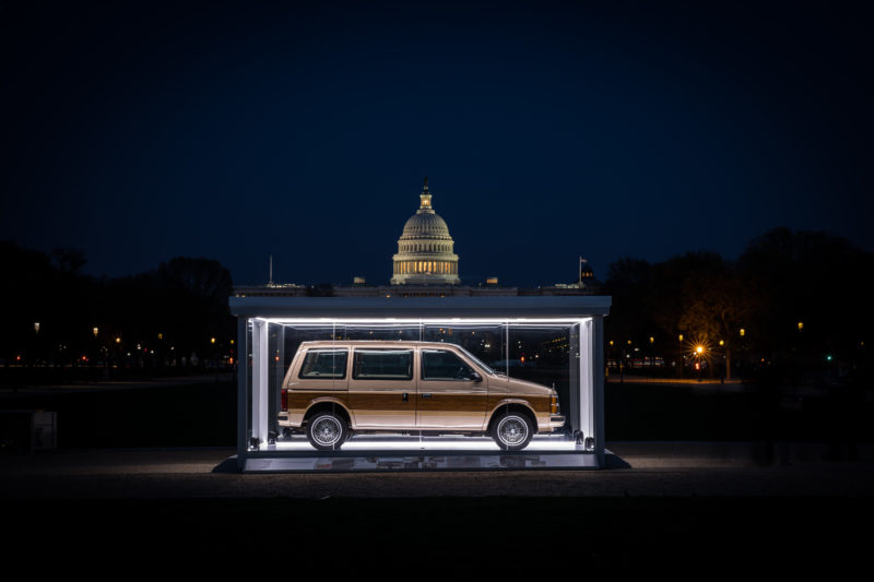 1984 Plymouth Voyager on the National Mall