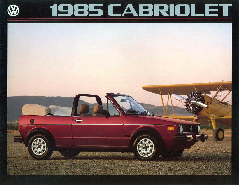 1985 Volkswagen Cabriolet brochure cover