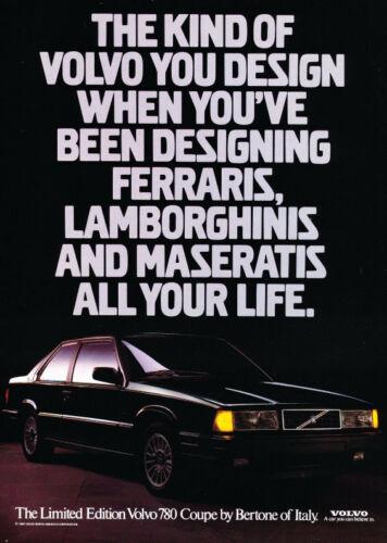 1987 Volvo 780 advertisement