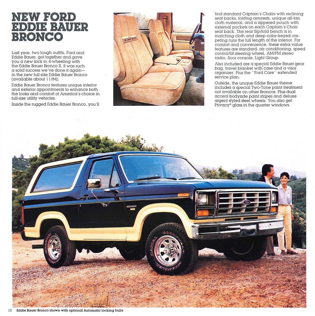 1985 Frod Bronco brochure page