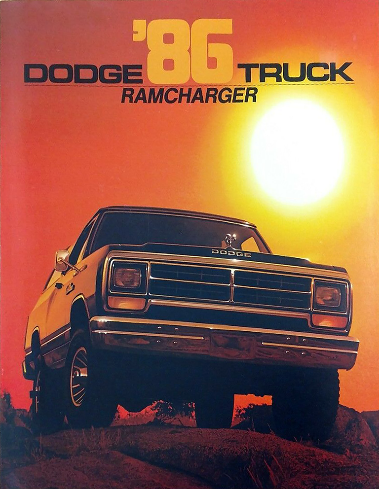 1986 Dodge Ramcharger brcohure cover