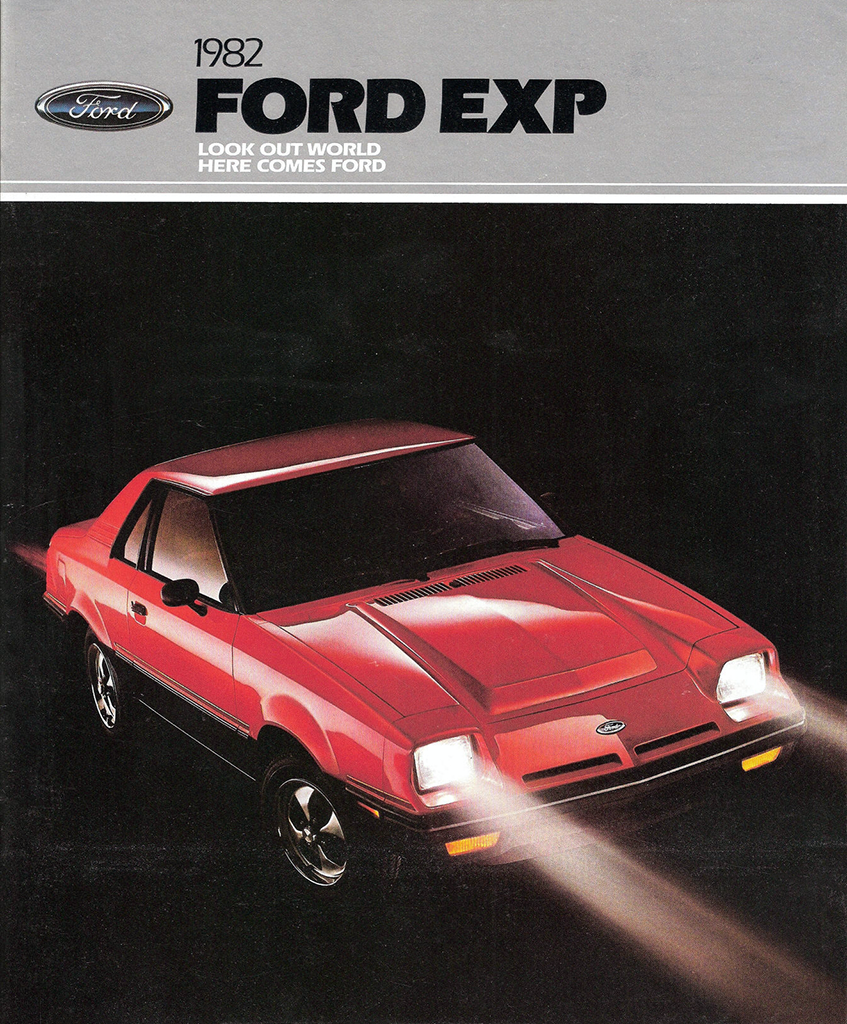 1982 Ford EXP brochure cover