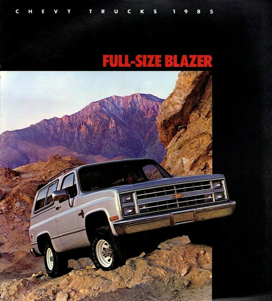 1985 Chevrolet Blazer brochure cover