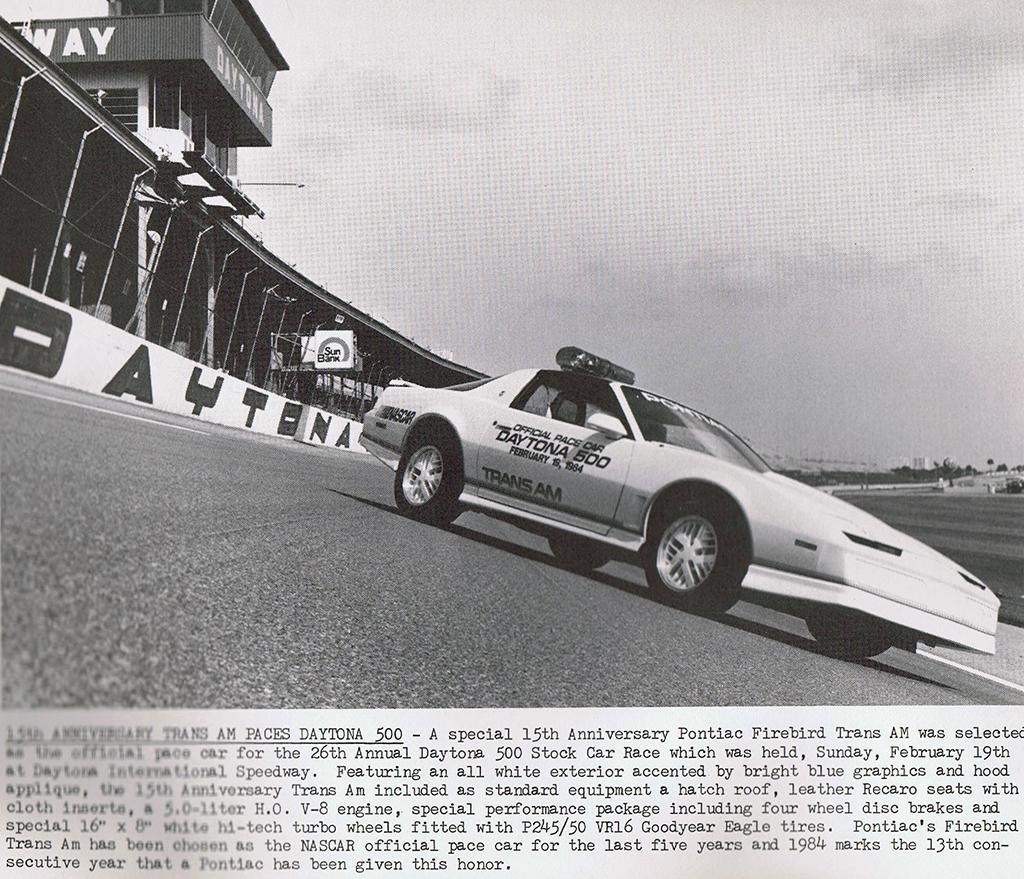 1984 Trans Am press release