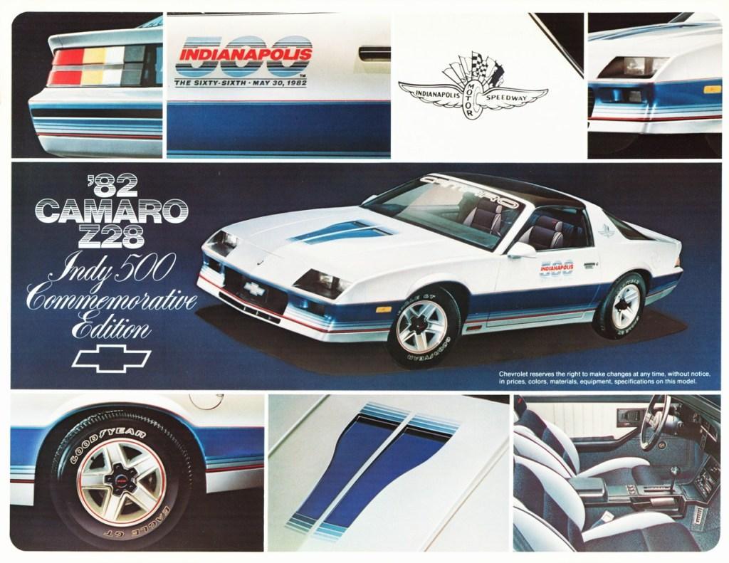 1982 Camaro Commerative Edition flyer